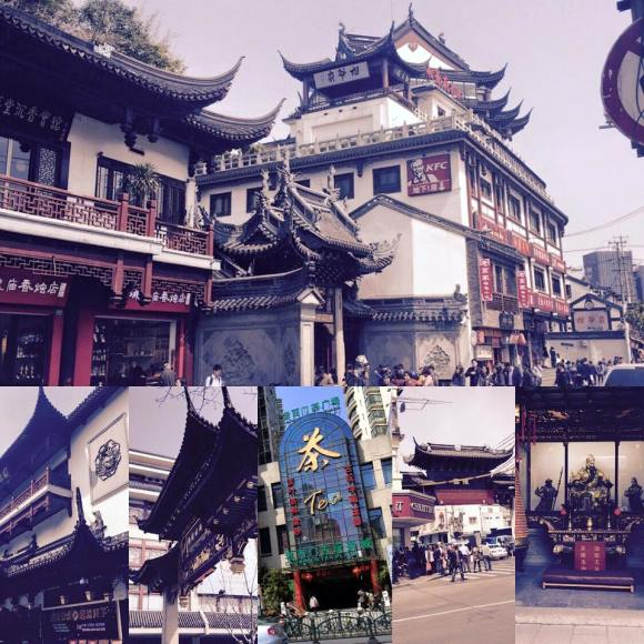 A collage from my Instagram pictures of Shanghai.