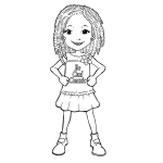The Curly Kids Coloring Book - Twists