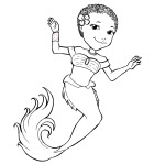 The Curly Kids Coloring Book - Mermaid